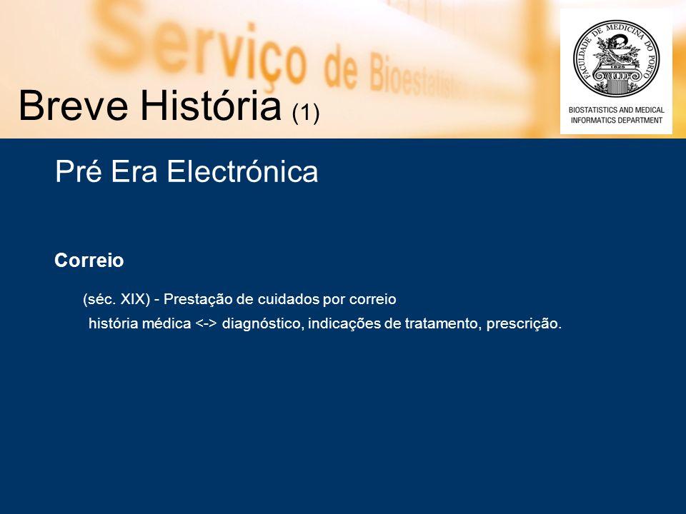 Breve História (1) Pré Era Electrónica Correio (séc.
