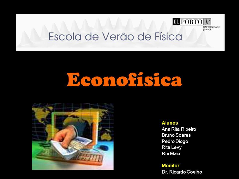 Econofísica Alunos Ana Rita Ribeiro Bruno Soares Pedro Diogo Rita Levy Rui Maia Monitor Dr. Ricardo Coelho