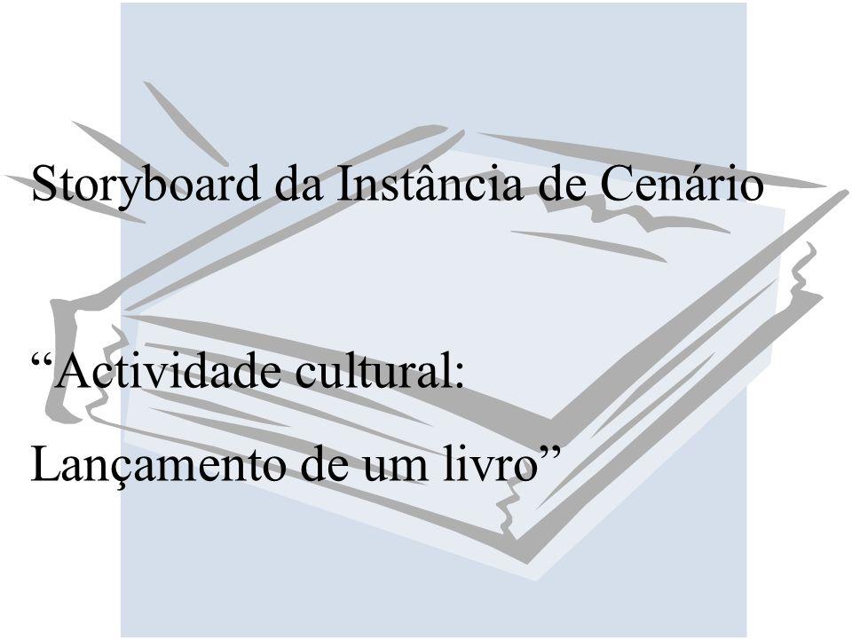 Storyboard da Instância de Cenário Actividade cultural: Lançamento de um livro