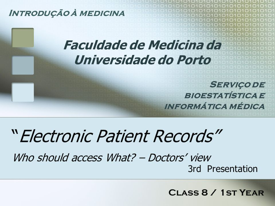 Electronic Patient Records Who should access What.