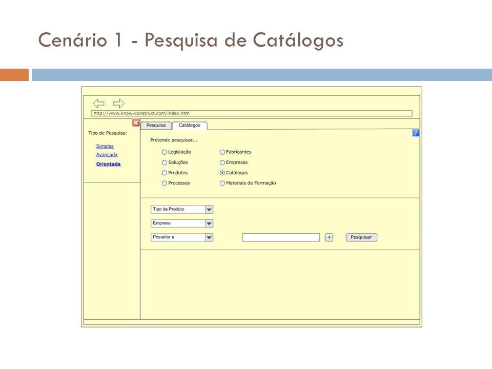 Cenário 2 - Pesquisa de informação legislativa
