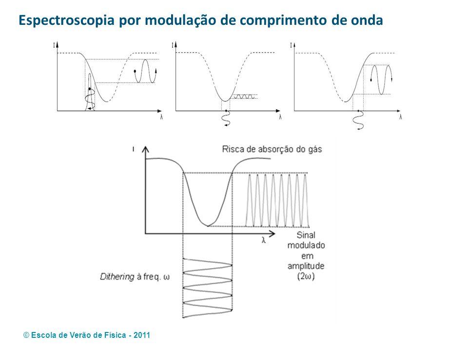 © Escola de Verão de Física - 2011 Espectroscopia por modulação de comprimento de onda