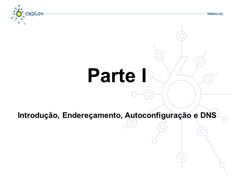 Parte I Introdução, Endereçamento, Autoconfiguração e DNS