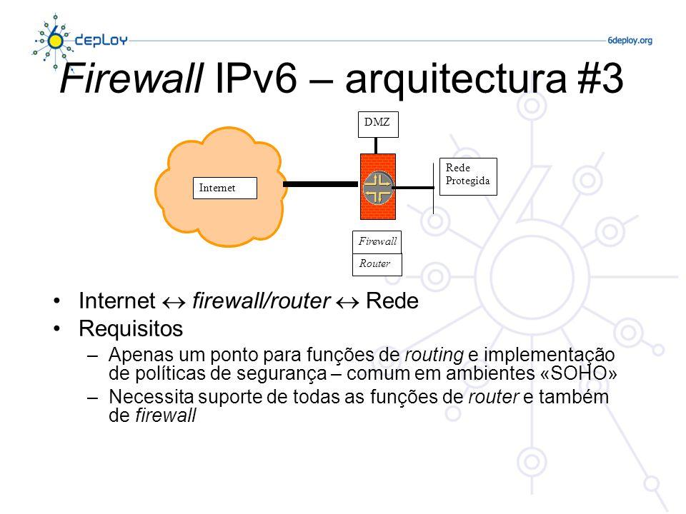 DDoS Não existem endereços broadcast em IPv6 –Evita ataques através do envio de pacotes ICMP para o endereço de broadcast As especificações do IPv6 proibem a geração de pacotes ICMPv6 em resposta a mensagens enviadas para endereços globais multicast (com a excepção da mensagem «Packet too big»).