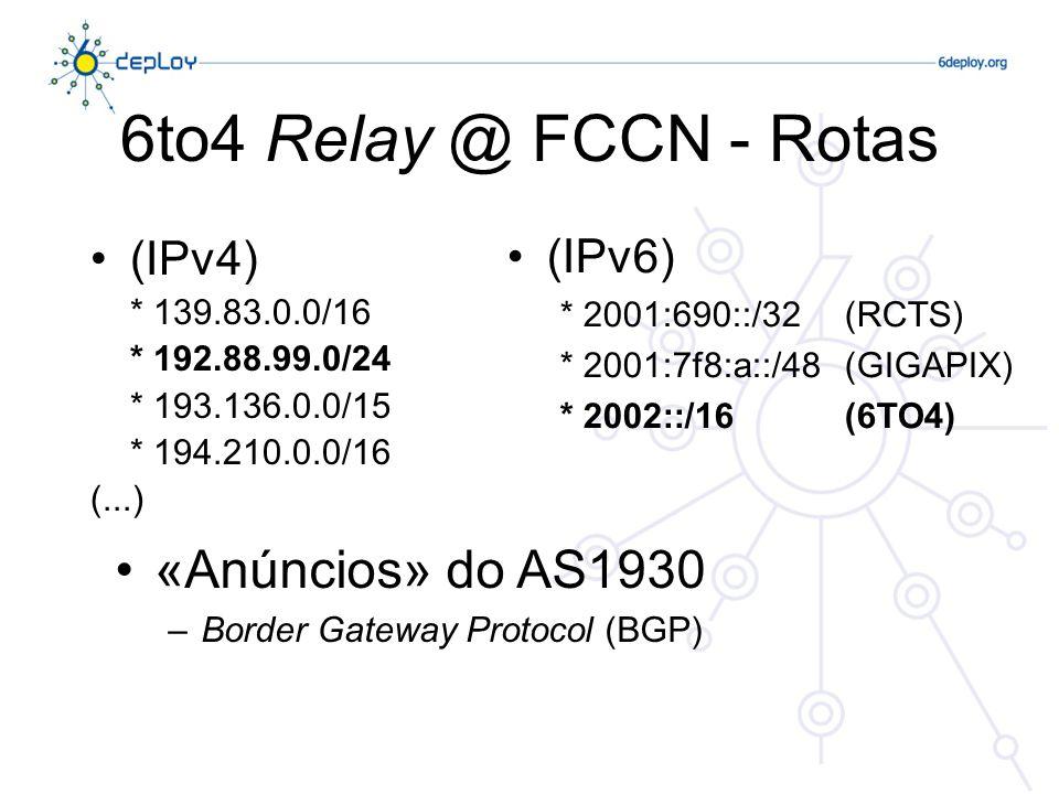 6to4 Relay - Exemplo