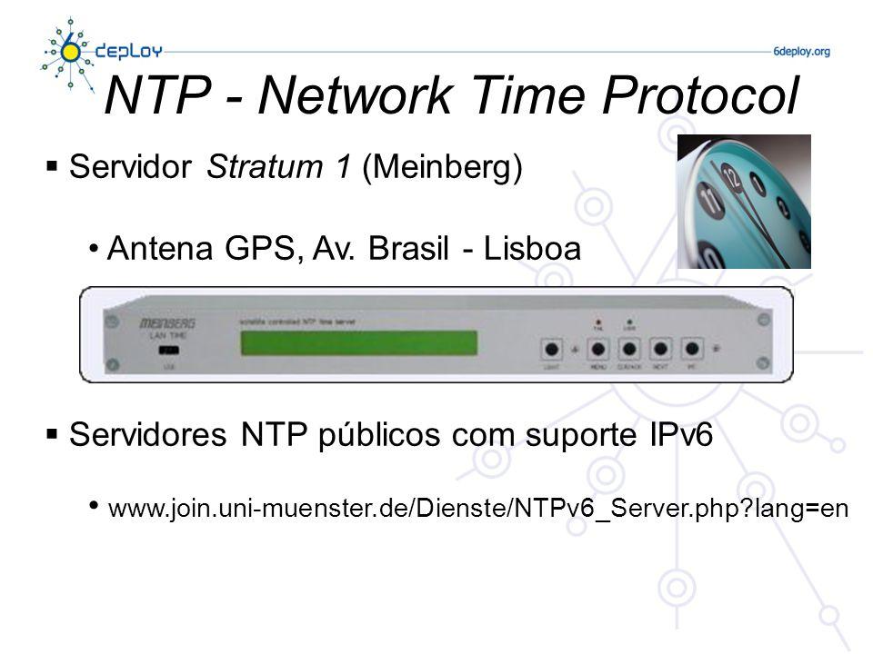 NTP - Network Time Protocol Servidor Stratum 1 (Meinberg) Antena GPS, Av.