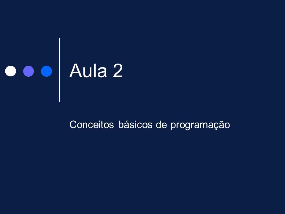 Aula 2 Conceitos básicos de programação
