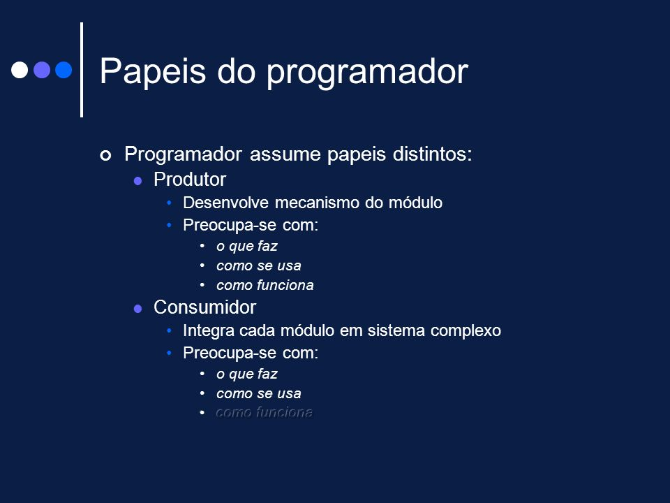 Papeis do programador