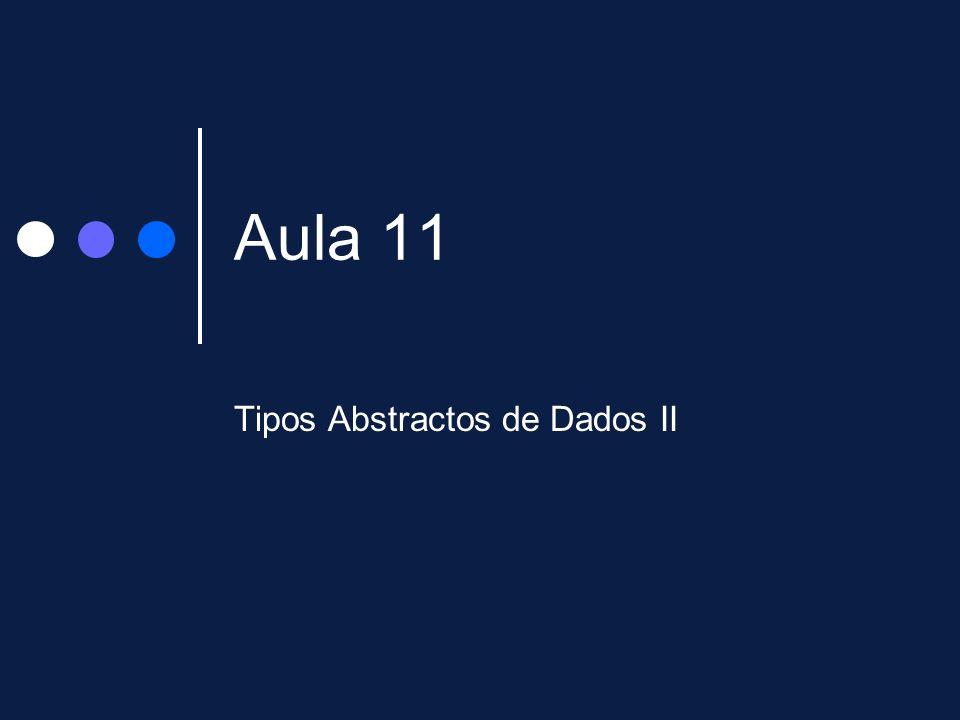 Aula 11 Tipos Abstractos de Dados II