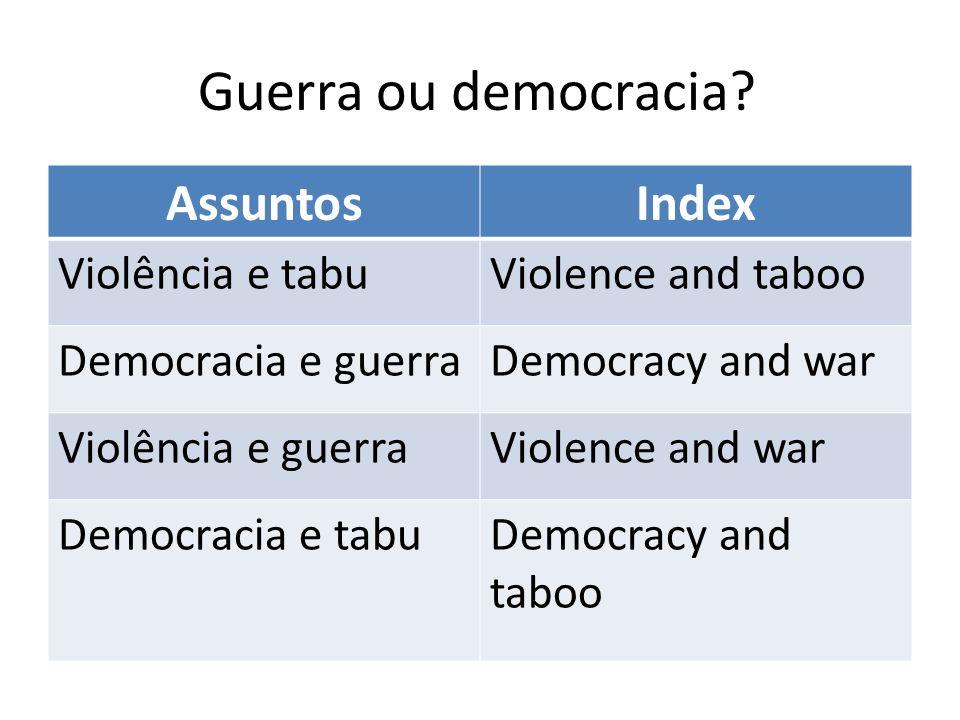 Guerra ou democracia.