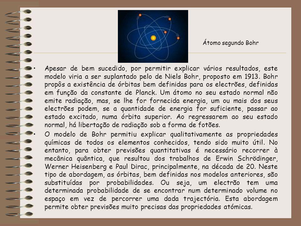 Apesar de bem sucedido, por permitir explicar vários resultados, este modelo viria a ser suplantado pelo de Niels Bohr, proposto em 1913. Bohr propôs