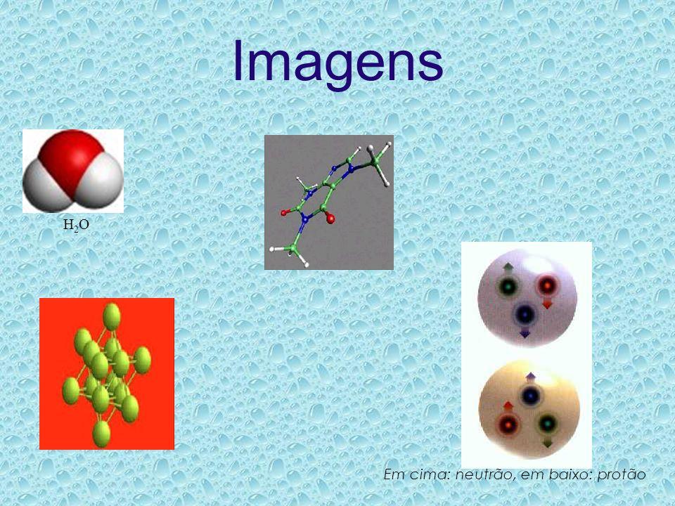 Imagens H2OH2O Em cima: neutrão, em baixo: protão