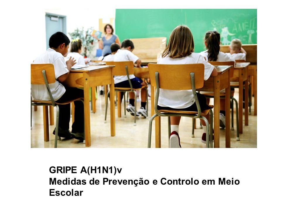 GRIPE A(H1N1)v Medidas de Prevenção e Controlo em Meio Escolar