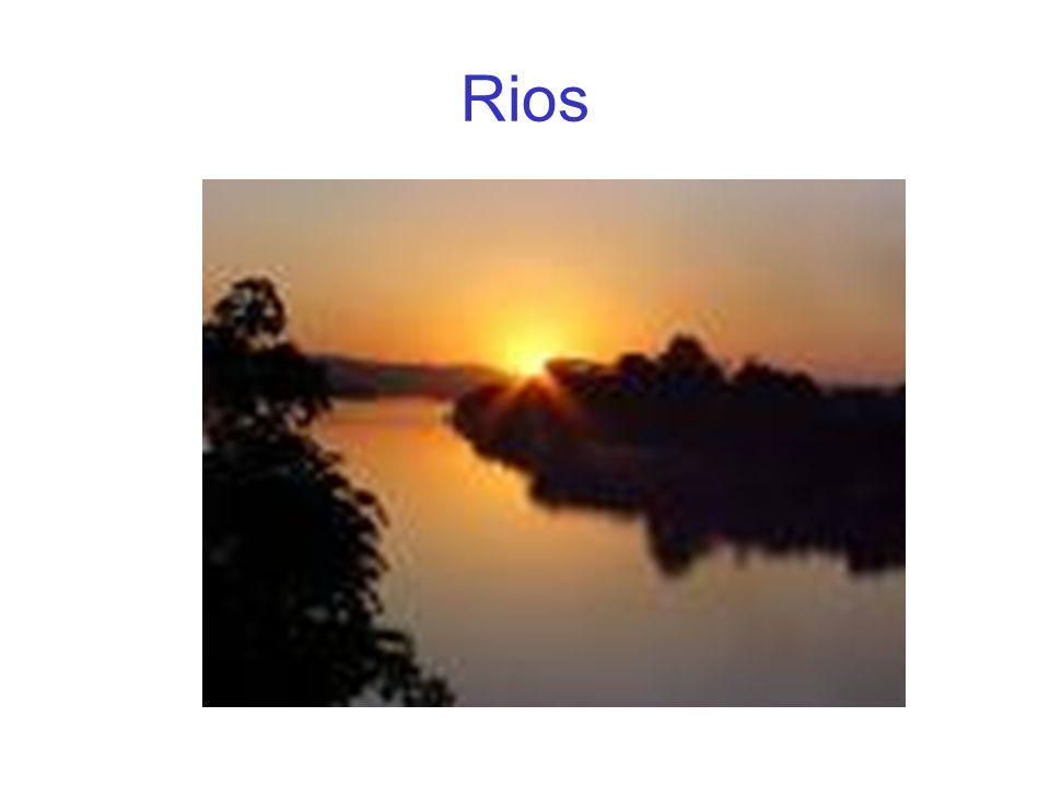 Alguns conceitos a saber Rio:Rio: Curso de água doce e permanente que nascem nas montanhas.