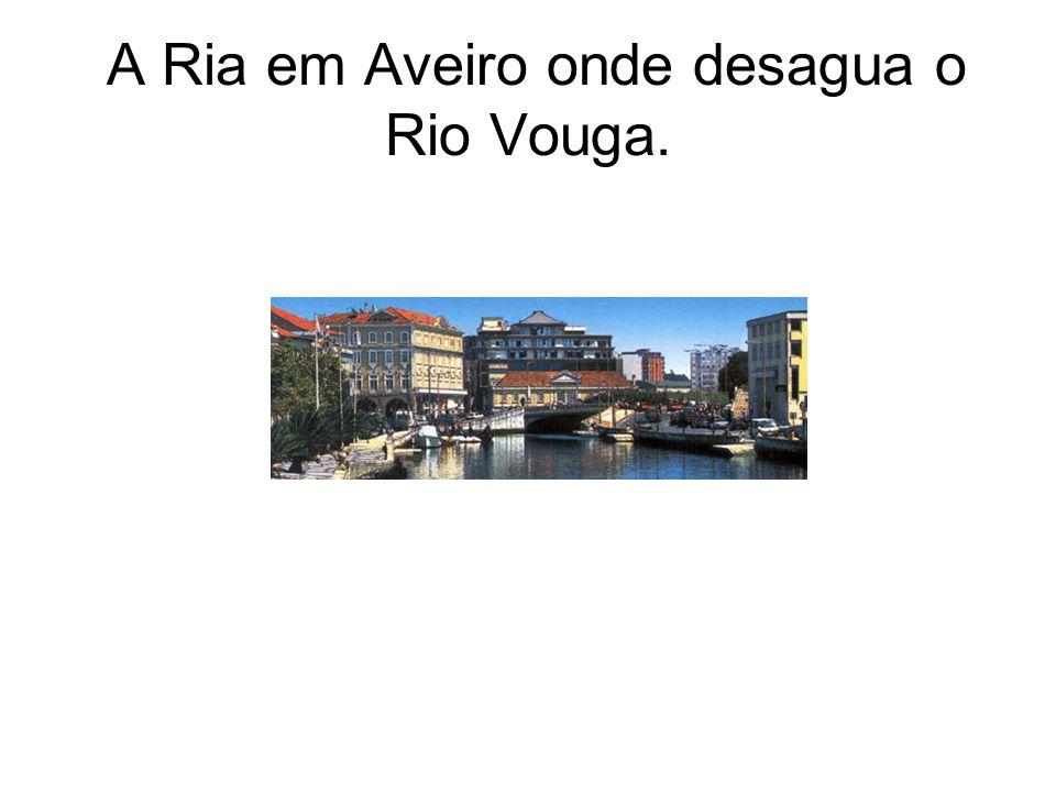 A Ria em Aveiro onde desagua o Rio Vouga.