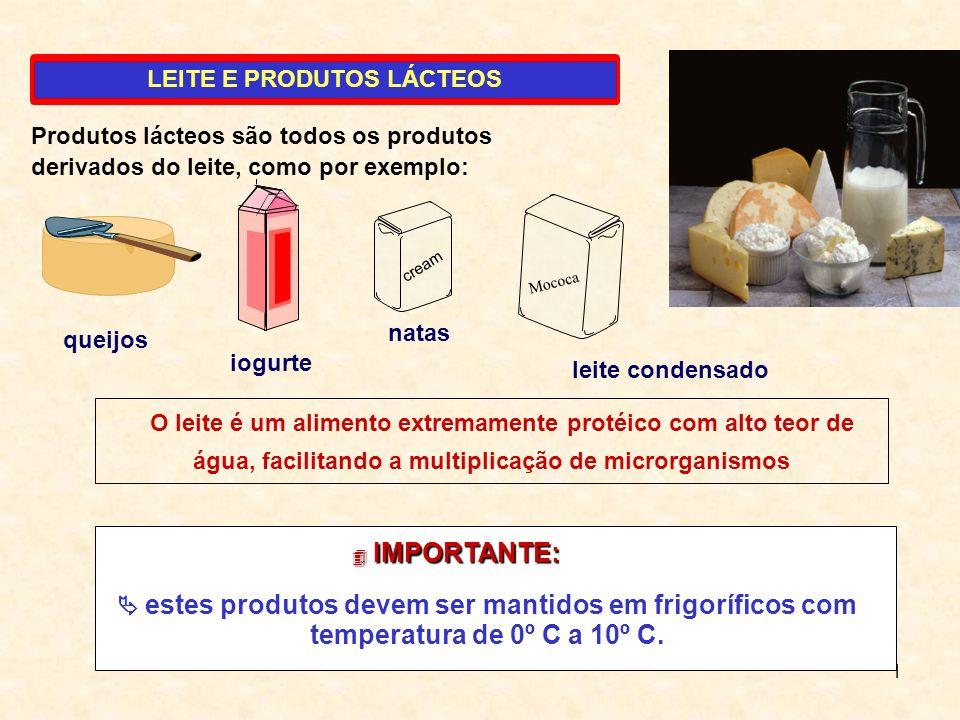 1 LEITE E PRODUTOS LÁCTEOS O leite é um alimento extremamente protéico com alto teor de água, facilitando a multiplicação de microrganismos Produtos l