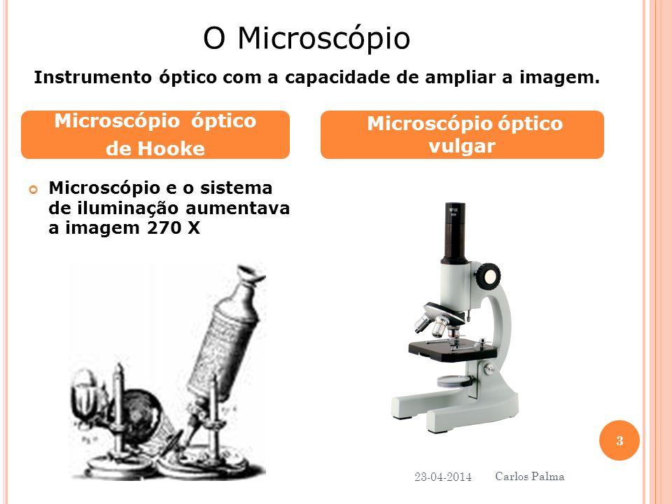 Microscópio e o sistema de iluminação aumentava a imagem 270 X Microscópio óptico de Hooke Microscópio óptico vulgar O Microscópio Instrumento óptico