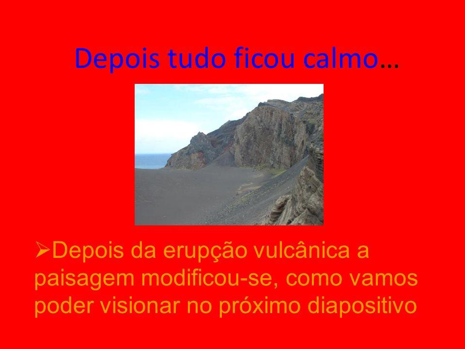 Depois da Erupção Vulcânica