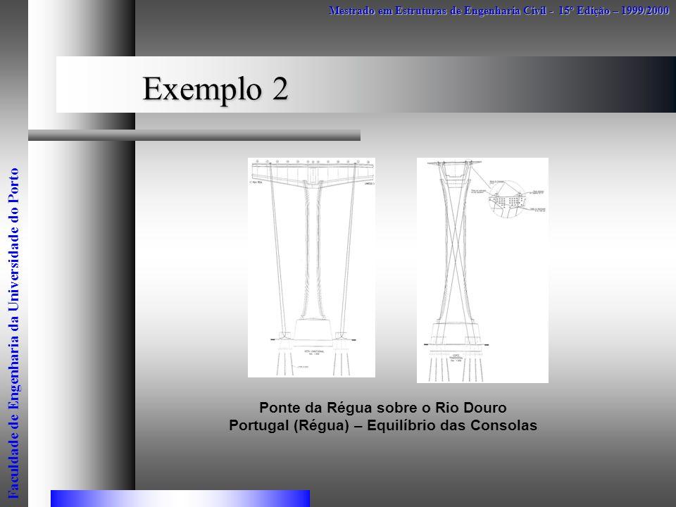 Exemplo 2 Mestrado em Estruturas de Engenharia Civil - 15º Edição – 1999/2000 Faculdade de Engenharia da Universidade do Porto Ponte da Régua sobre o