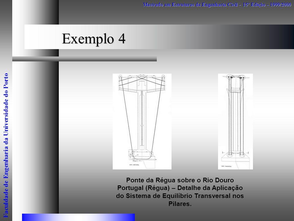 Exemplo 4 Mestrado em Estruturas de Engenharia Civil - 15º Edição – 1999/2000 Faculdade de Engenharia da Universidade do Porto Ponte da Régua sobre o