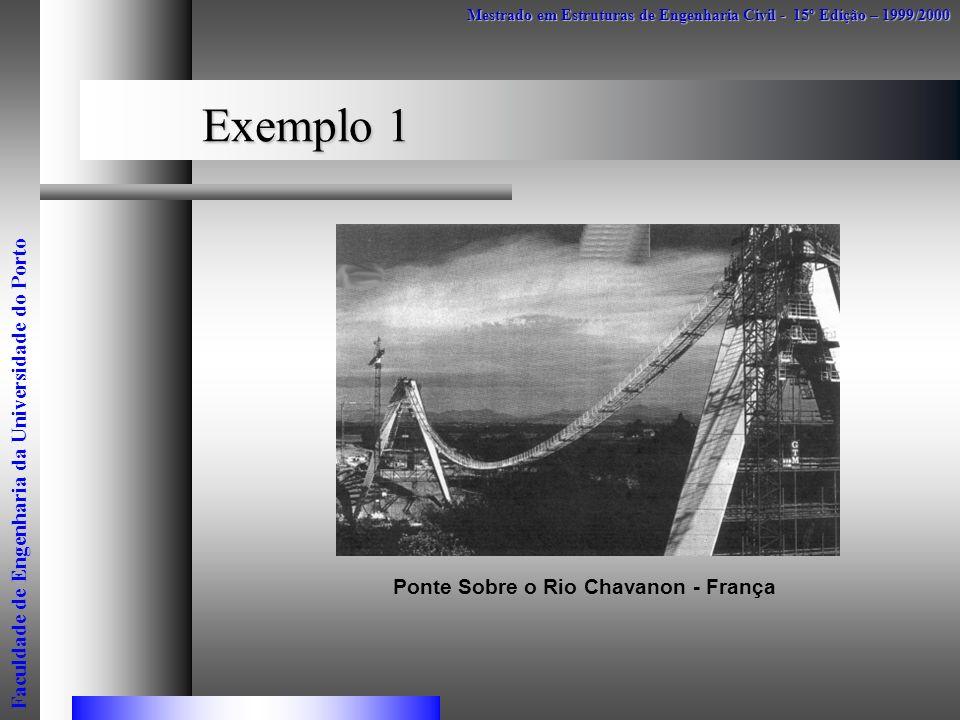 Exemplo 1 Mestrado em Estruturas de Engenharia Civil - 15º Edição – 1999/2000 Faculdade de Engenharia da Universidade do Porto Ponte Sobre o Rio Chava