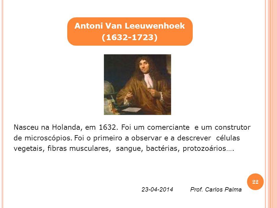 Nasceu na Holanda, em 1632. Foi um comerciante e um construtor de microscópios. Foi o primeiro a observar e a descrever células vegetais, fibras muscu