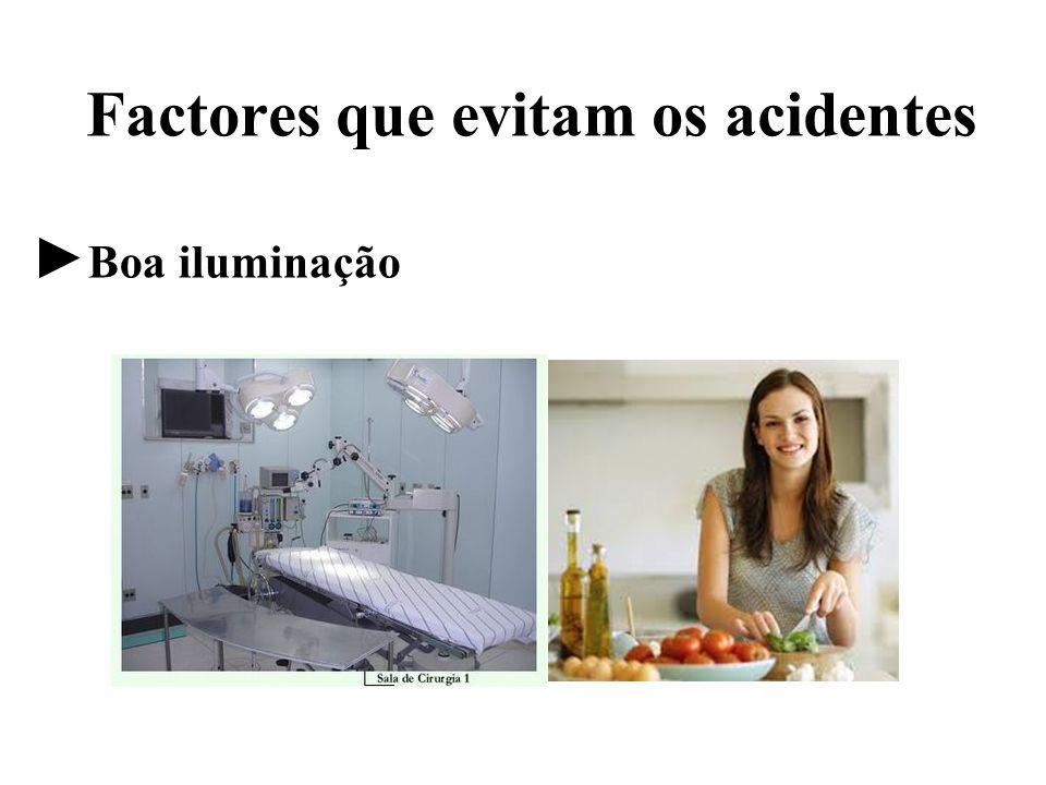 Factores que evitam os acidentes Boa iluminação