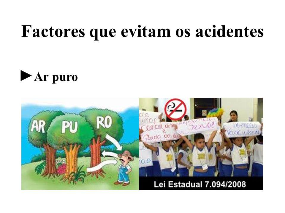 Factores que evitam os acidentes Ar puro