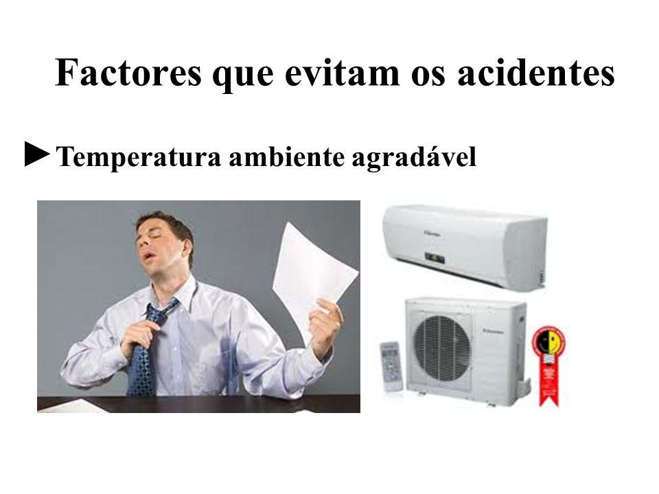 Factores que evitam os acidentes Temperatura ambiente agradável