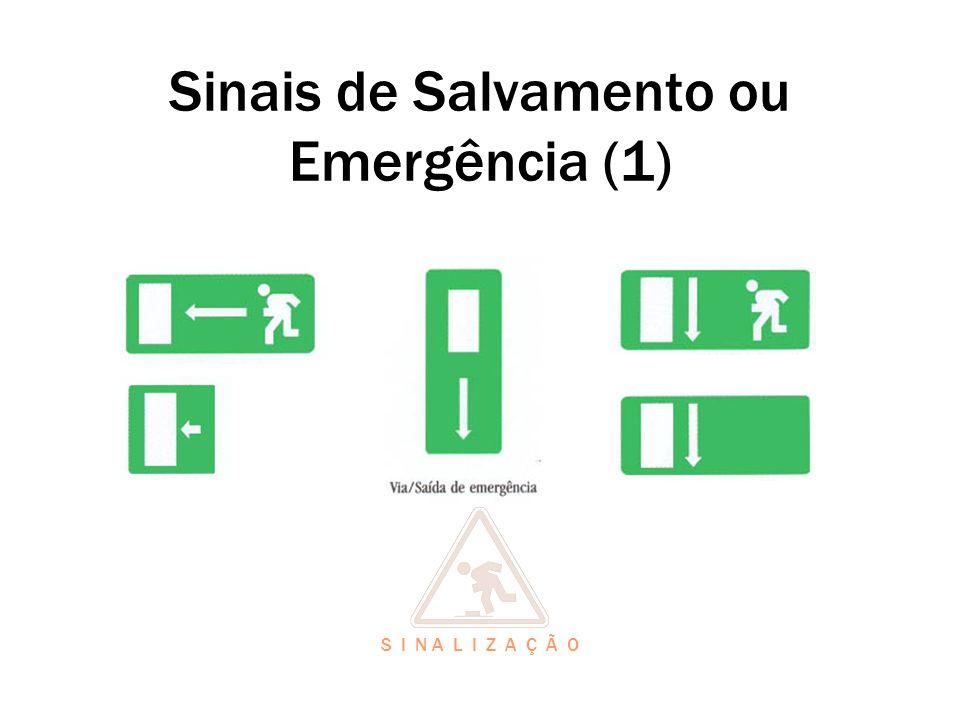 Sinais de Salvamento ou Emergência (1) S I N A L I Z A Ç Ã O