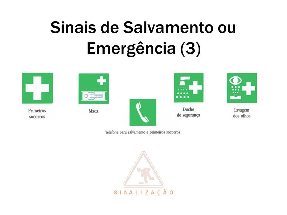Sinais de Salvamento ou Emergência (3) S I N A L I Z A Ç Ã O