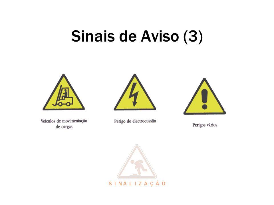 Sinais de Aviso (3) S I N A L I Z A Ç Ã O
