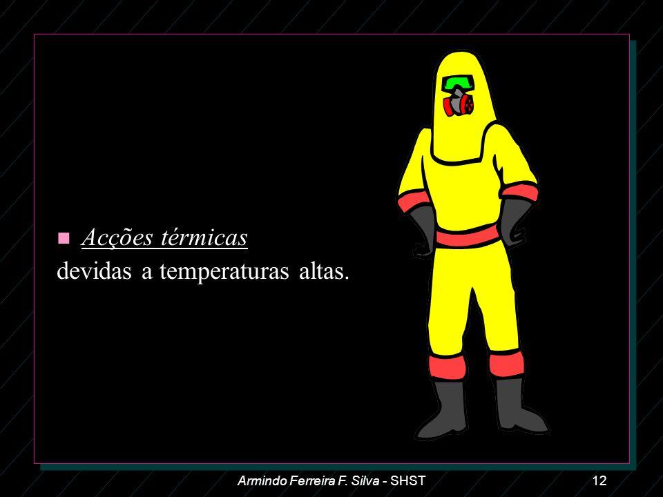 Armindo Ferreira F. Silva - SHST12 n Acções térmicas devidas a temperaturas altas.
