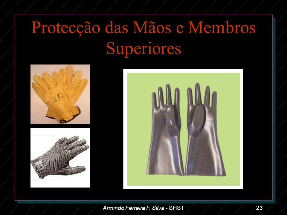 Protecção das Mãos e Membros Superiores Armindo Ferreira F. Silva - SHST23