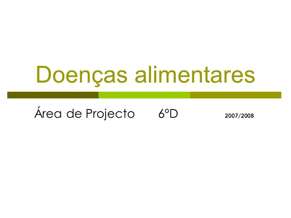 Doenças alimentares Área de Projecto 6ºD 2 007/2008