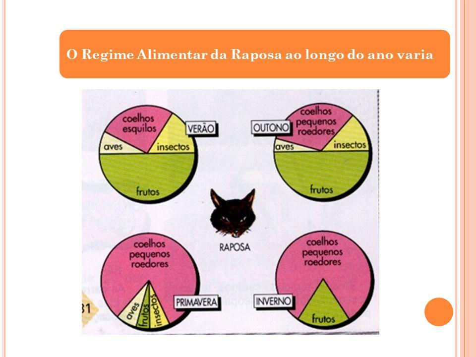 O Regime Alimentar da Raposa ao longo do ano varia