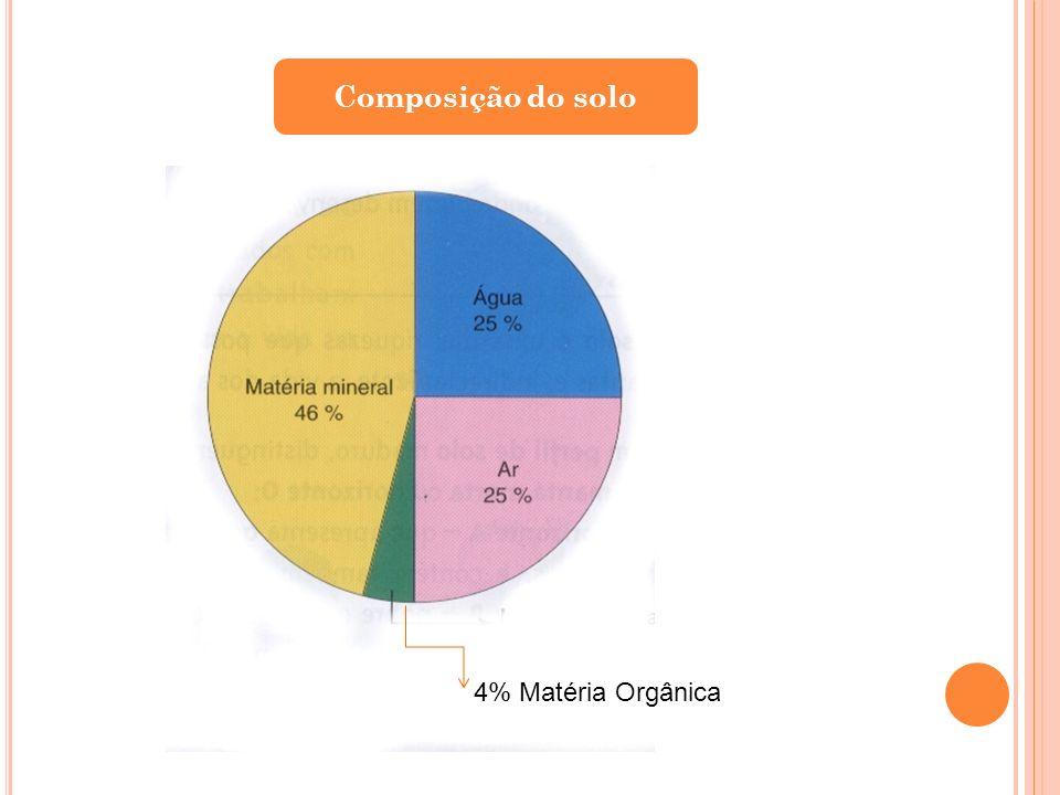 Composição do solo 4% Matéria Orgânica
