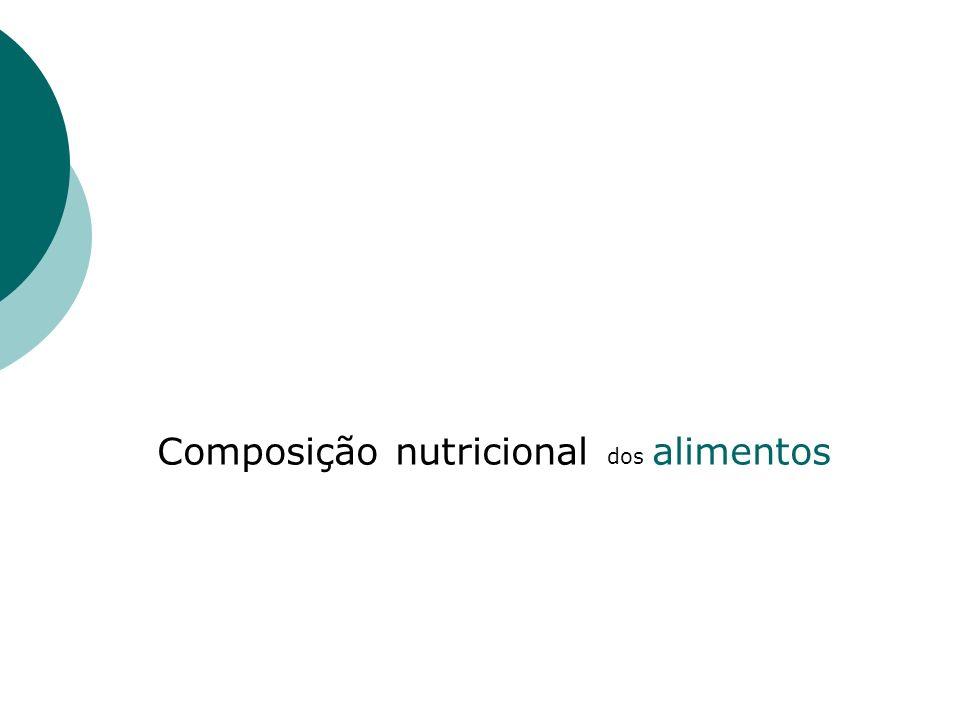 Composição nutricional dos alimentos