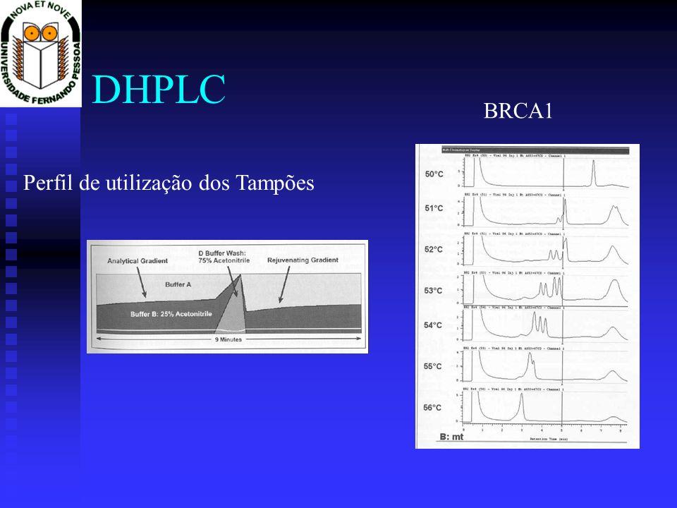 DHPLC Perfil de utilização dos Tampões BRCA1