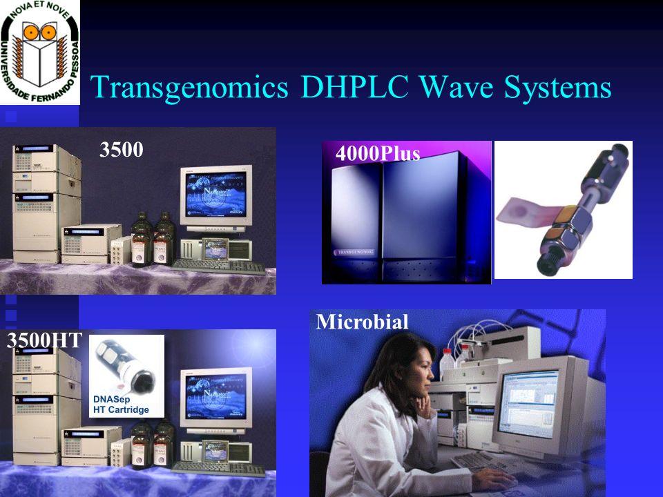 Transgenomics DHPLC Wave Systems 3500 4000Plus 3500HT Microbial