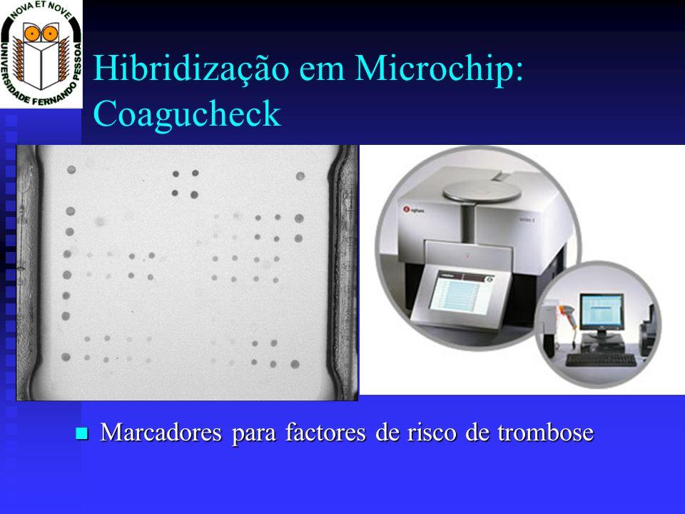 Hibridização em Microchip: Coagucheck Marcadores para factores de risco de trombose Marcadores para factores de risco de trombose