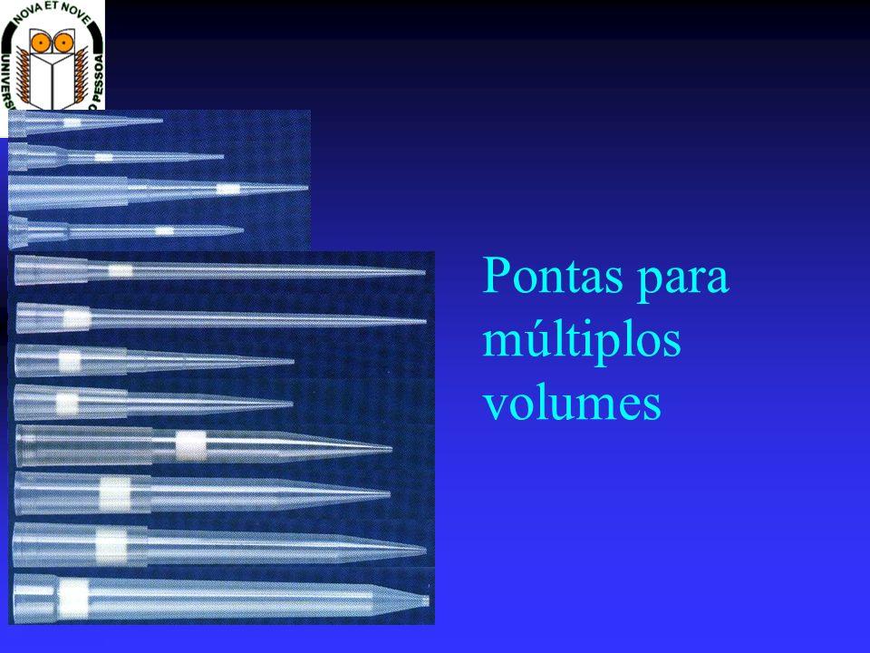 Pontas com marcas de volume