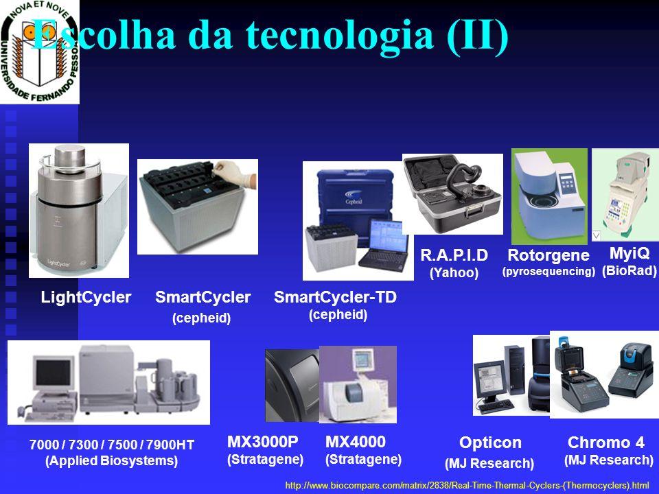 Chromo 4 (MJ Research) Rotorgene (pyrosequencing) MyiQ (BioRad) R.A.P.I.D (Yahoo) LightCyclerSmartCycler (cepheid) 7000 / 7300 / 7500 / 7900HT (Applie