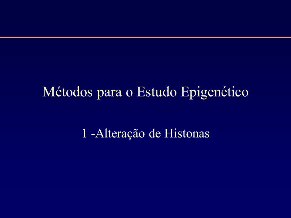 Métodos para o Estudo Epigenético 1 -Alteração de Histonas