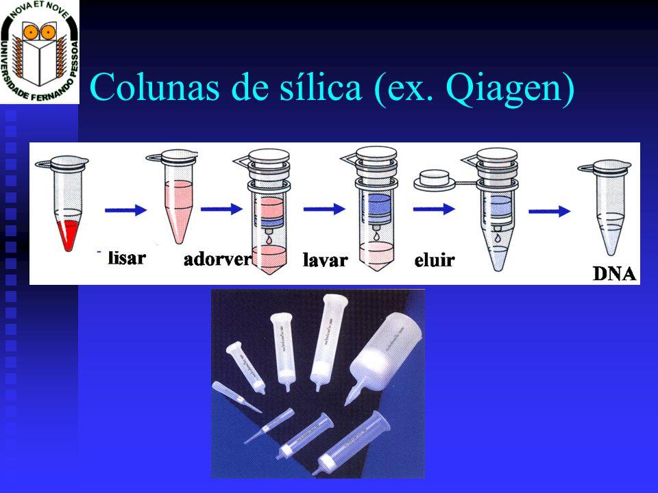 Colunas de sílica (ex. Qiagen)