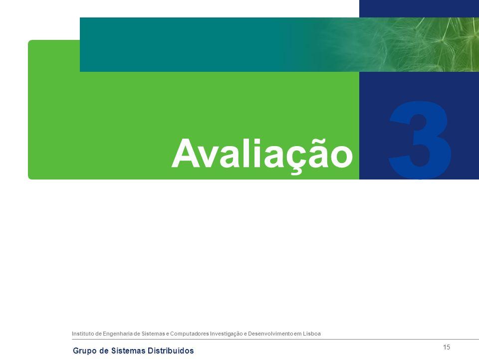 Instituto de Engenharia de Sistemas e Computadores Investigação e Desenvolvimento em Lisboa Grupo de Sistemas Distribuídos 15 3 Avaliação