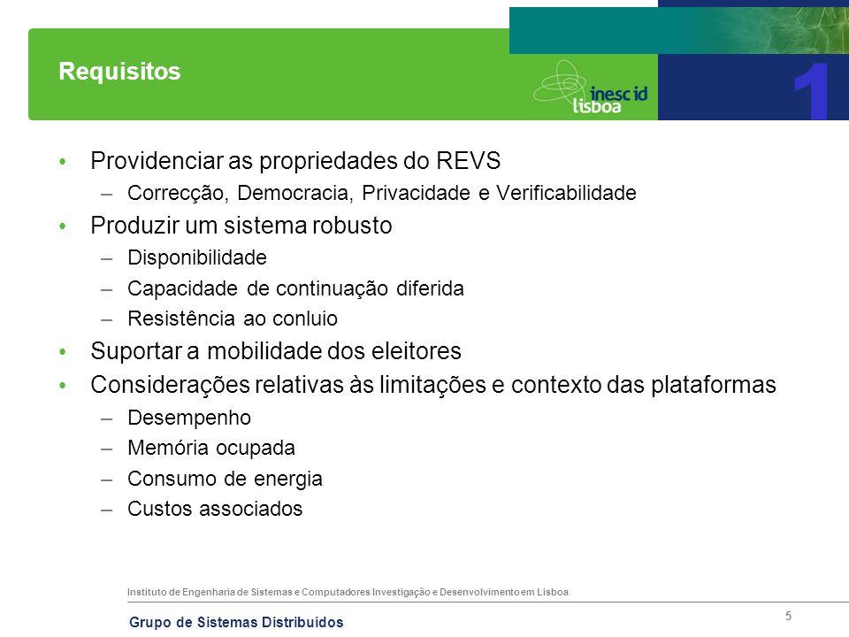 Instituto de Engenharia de Sistemas e Computadores Investigação e Desenvolvimento em Lisboa Grupo de Sistemas Distribuídos 5 Requisitos 1 Providenciar