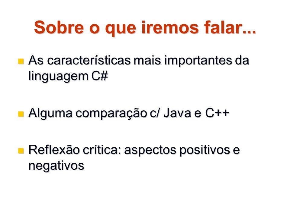 Passagem de parâmetros params – passagem de nº variável de parâmetros params – passagem de nº variável de parâmetros public static void Main() public static void Main() { UseParams(1, a , test ); UseParams(1, a , test ); int[] myarray = new int[3] {10,11,12}; int[] myarray = new int[3] {10,11,12}; UseParams(myarray); UseParams(myarray); } public static void UseParams(params object[] list) { for ( int i = 0 ; i < list.Length ; i++ ) for ( int i = 0 ; i < list.Length ; i++ ) Console.WriteLine(list[i]); Console.WriteLine(list[i]); Console.WriteLine(); Console.WriteLine(); }