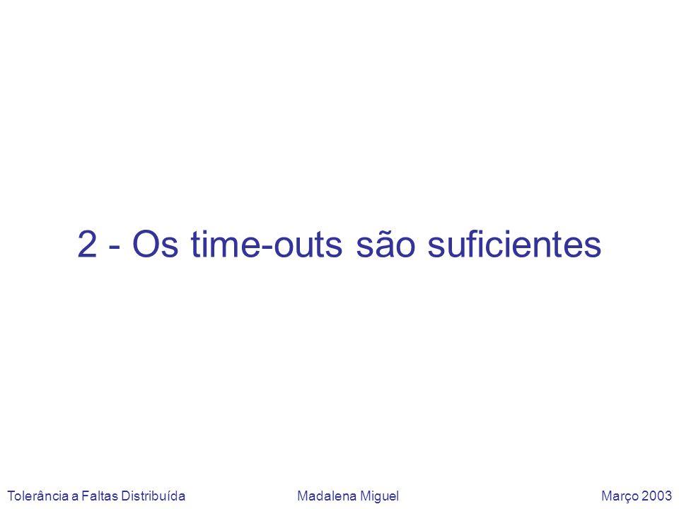 Prós e Contras: O consenso pode solucionar-se com time-outs, para detectar paragens dos processos.