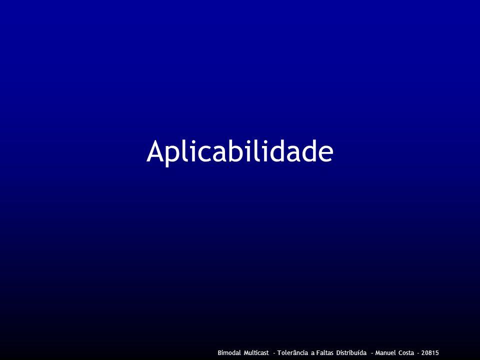 Bimodal Multicast - Tolerância a Faltas Distribuída – Manuel Costa - 20815 Aplicabilidade